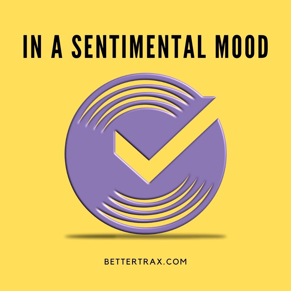 In a sentimental Mood backing track